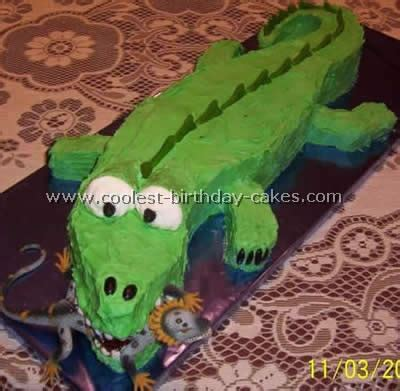 Crocodile Birthday Cake Template coolest crocodile cake photos web s largest birthday cake photo gallery