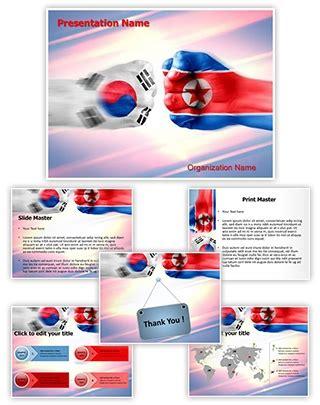 theme powerpoint korean professional south korea north korea editable powerpoint