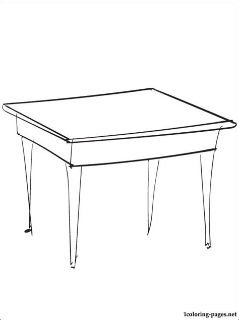 table coloring pages image of a table coloring pages