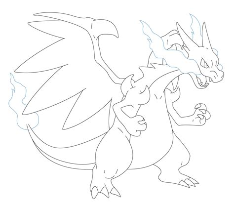 Charizard Y Drawing by Mega Charizard X Lineart By Briick97 On Deviantart