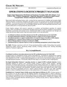 Logistics Manager Resume by Logistics Operations Manager Resume Operations Logistics Project Manager In Salt Lake City Ut