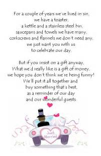 poems to put in wedding invites asking for money 25 best ideas about wedding gift poem on