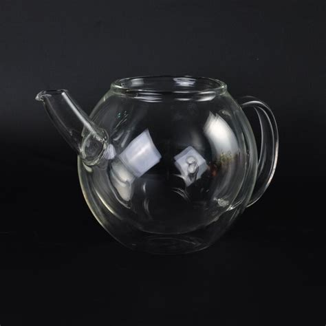 borosilicate glass best selling clear borosilicate glass teapot with cap and