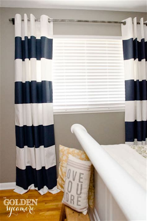 diy striped curtains diy painted stripe curtains and distressed pipe curtain