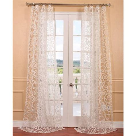 patterned sheer curtain panels marietta white patterned sheer curtain panel overstock