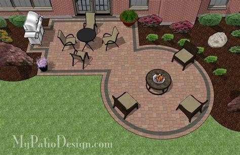 patio pit designs ideas rectangle patio design with circle pit area