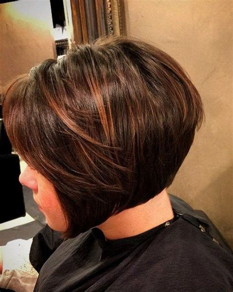 chocolate bob hairstyle  brown highlights bobs