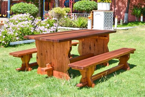 redwood benches redwood trestle bench custom outdoor wooden bench