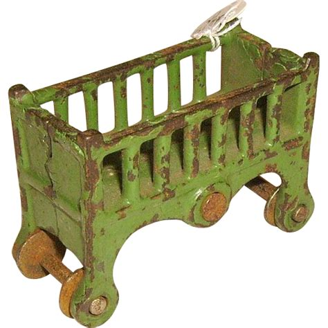 Cast Iron Baby Crib Kilgore Cast Iron Baby Bed On Wheels Doll House Furniture From Chelseaantiques On Ruby
