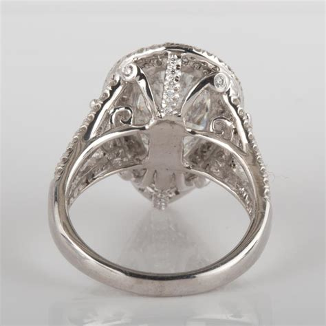 4 carat marquise diamond engagement ring 4 43 carat pear shaped diamond marquise side halo