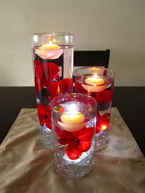candele galleggianti matrimonio centrotavola con candele galleggianti 12 foto