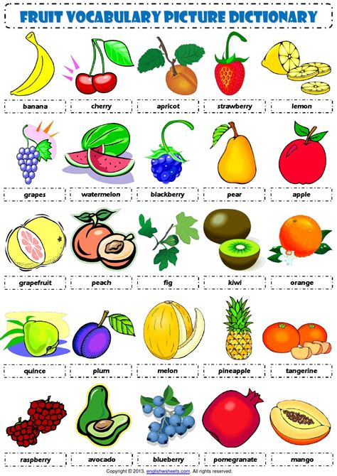 vegetables 2 words vocabulary food fruit vocabulary