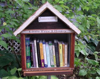 tiny library think small with the little free library movement