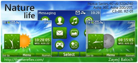 nature theme nokia 206 gratuit nature life theme themereflex