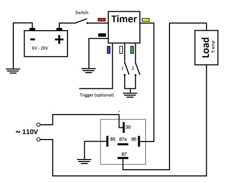 timer relay circuit diagram timer circuit diagram with relay images how to guide and