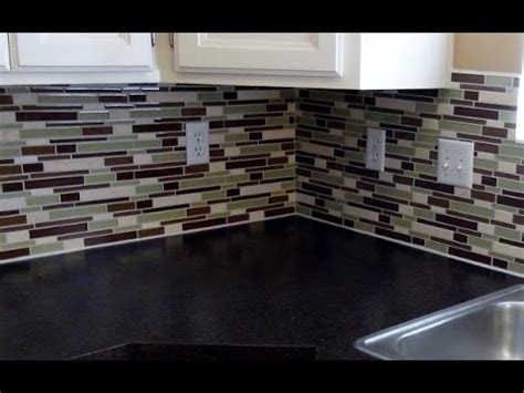 How To Install Glass Mosaic Tile Kitchen Backsplash by How To Install A Glass Tile Backsplash Real Diy Tips Youtube