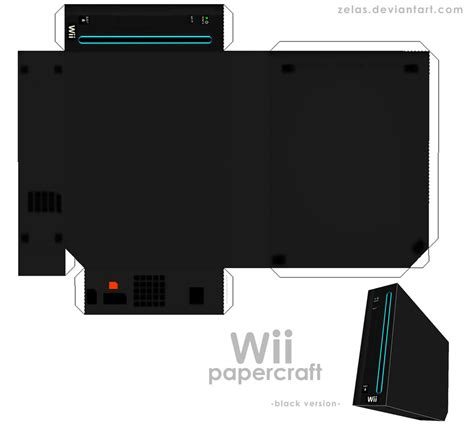 Papercraft Wii - simple black wii papercraft by zelas on deviantart