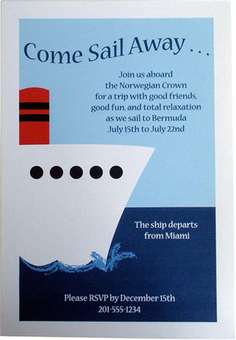 ship birthday invitations invitation nautical cruise ship boat flickr