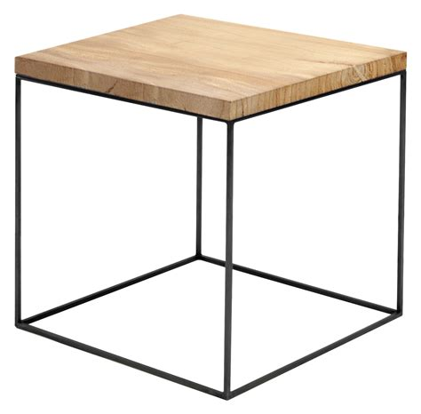 table noir et bois slim irony coffee table wood by zeus