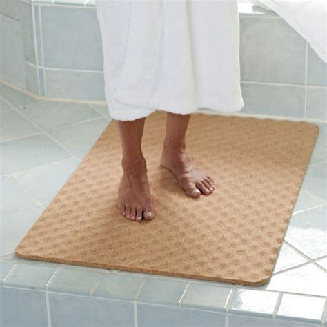 bathroom matting natural cork bath mat the green head