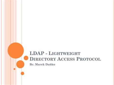 ldap tutorial powerpoint ppt ldap lightweight directory access protocol