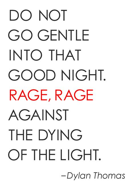 do not go gentle into the good night ol by dylan thomas