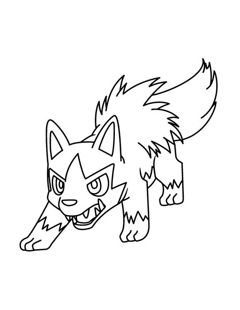 Pokemon Coloring Pages Poochyena | poochyena coloring pages az coloring pages