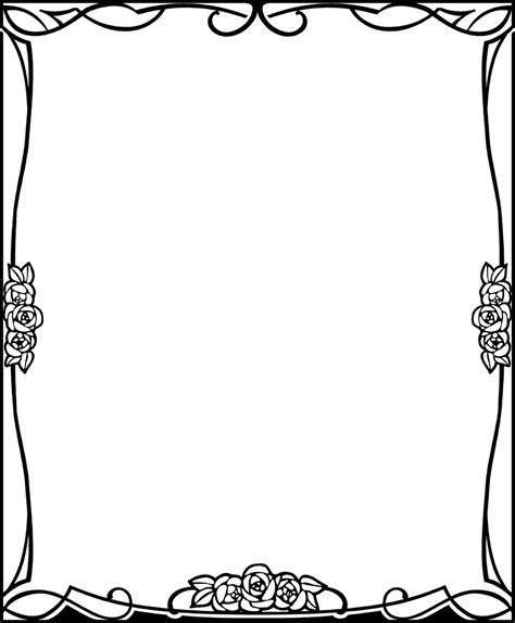 Decorative Frames Black White Bracket Frame Png Clip Art Library