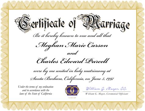 marriage certificate blank marriage certificate template professional and