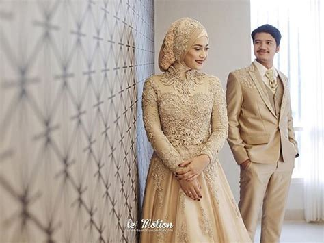 inspirasi model gaun kebaya pengantin muslim kristen