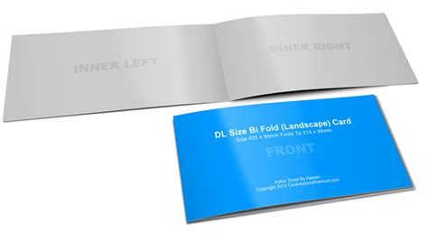 folded card template photoshop cs6 dl card mockup half fold landscape cover actions
