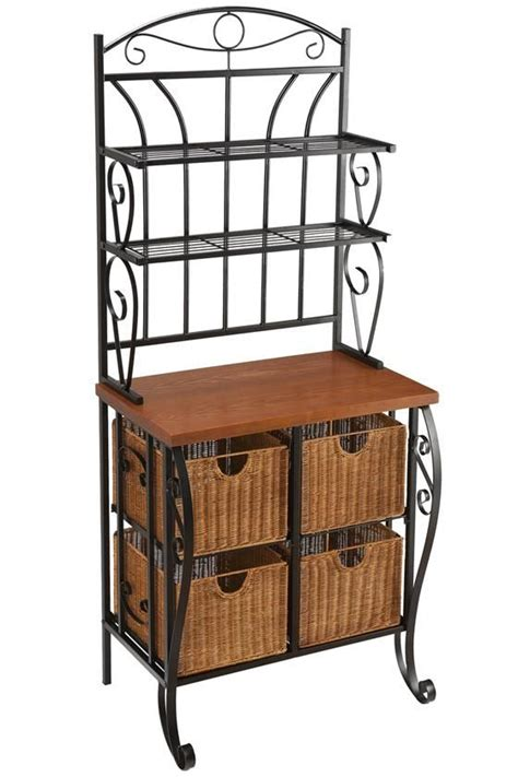 storage furniture for kitchen 17 best ideas about bakers rack kitchen on bakers rack tea station and bakers rack
