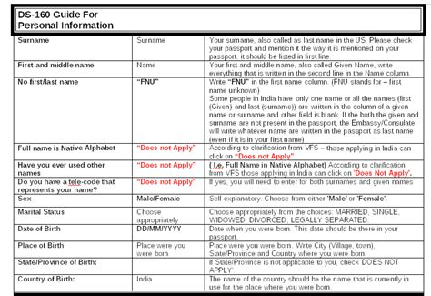 printable version of ds 160 ds 160 guidelines printable version