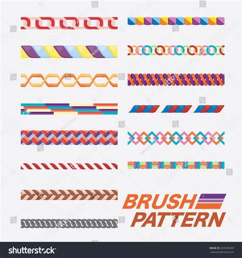 brush with pattern set of brush pattern stock vector illustration 297629639