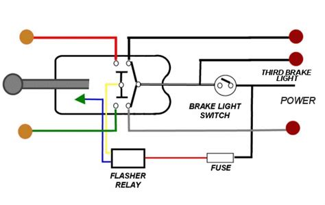 brake light wiring with 3 wire turn signal help the h a