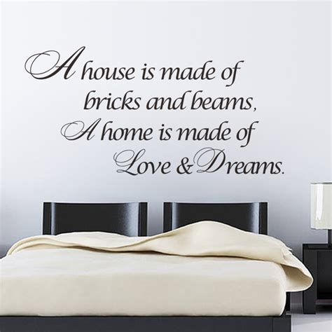 home decor stickers wall a home is made of dreams quotes wall sticker bedroom