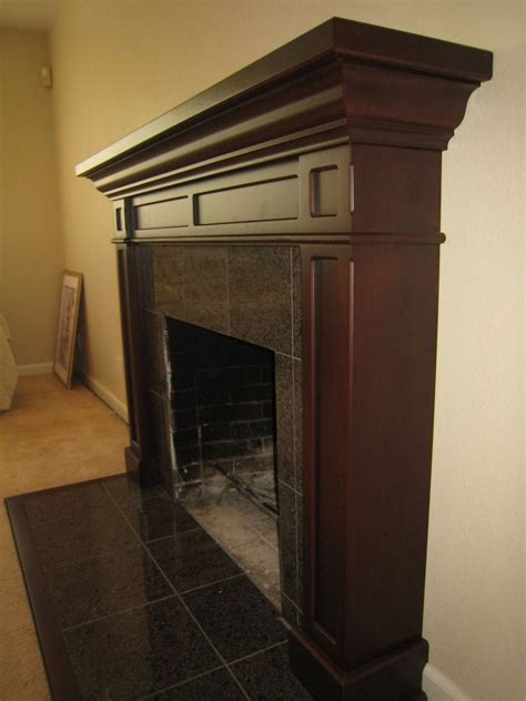 hand  cherry fireplace mantel  michael meyer fine