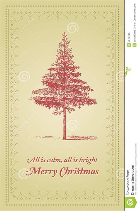 calm   bright christmas card stock vector image