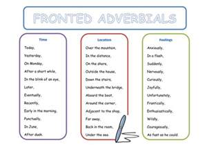 fronted adverbials word mat by danniiwilko teaching