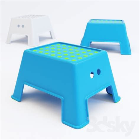 ikea step stool kid 3d models other ikea bolmen step stool