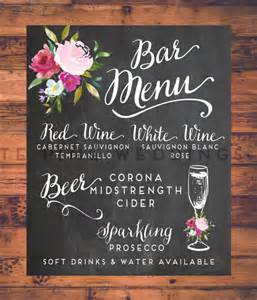 wedding bar menu template bar menu design vector free