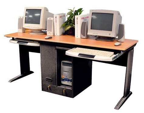 Desks For 2 Computers Dual Computer Desk For Home Or Office