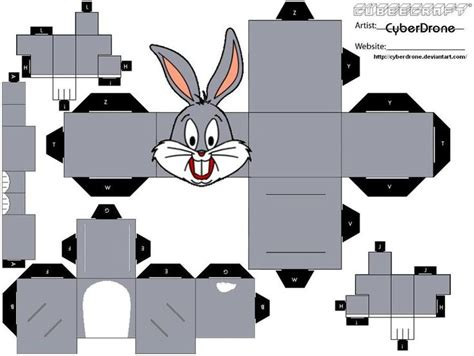 Bunny Papercraft - cubee bugs bunny by cyberdrone on deviantart other