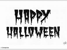 Coloriage happy halloween - img 5190 Free Black And White Clip Art Letters