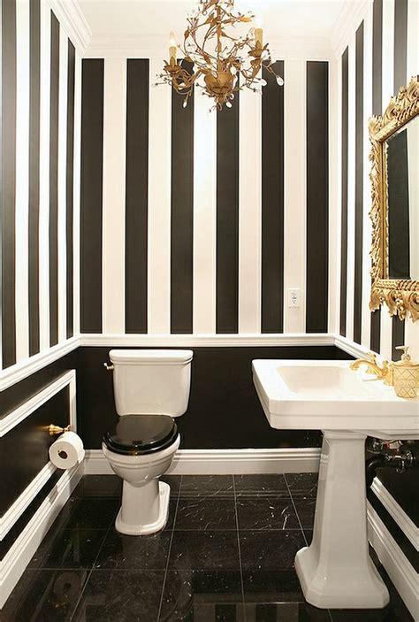 wandgestaltung streifen beispiele badezimmer ideen in schwarz wei 223 45 inspirierende