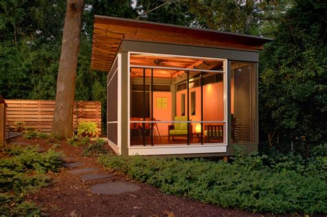 Garage With Screened Porch La Casita Contemporary Porch Atlanta By Axios