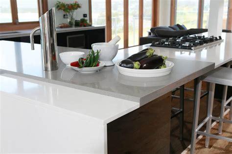 Kitchen With L Shaped Island guy sebastian s caesarstone kitchen renovation by freedom