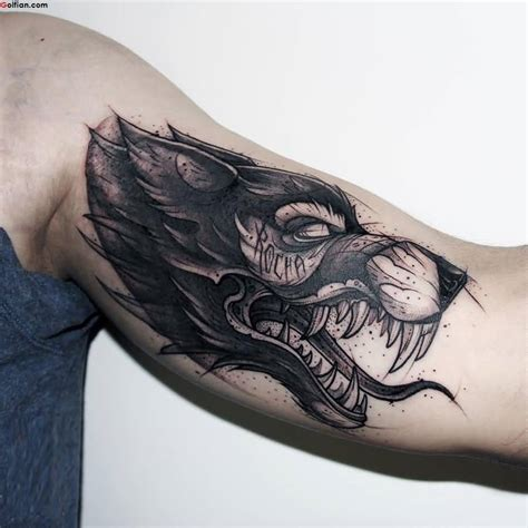 wolf head tattoos designs 50 awesome arm designs best sleeve