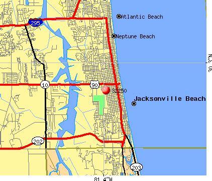 Jacksonville Fl Zip Code Map by 32250 Zip Code Jacksonville Beach Florida Profile