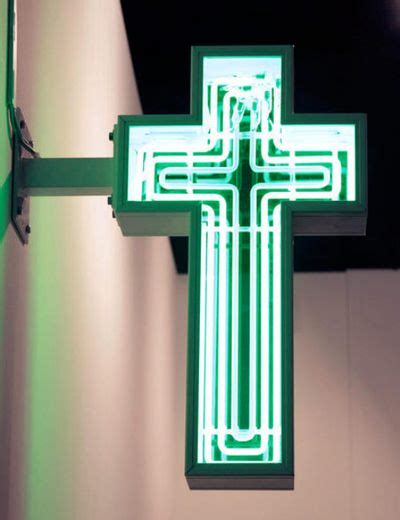 crucifix electric religion neon signs neon neon